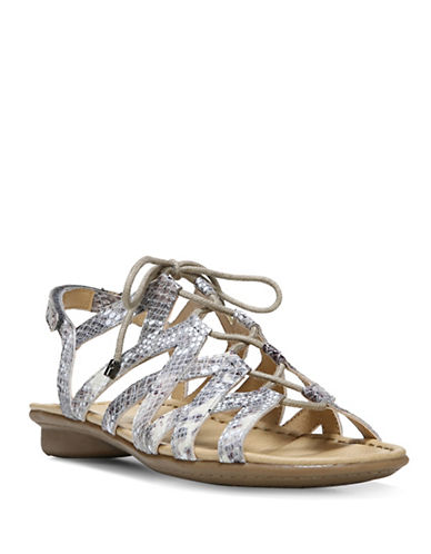 Naturalizer Whimsy Ghillie Sandals-SNAKESKIN-7.5
