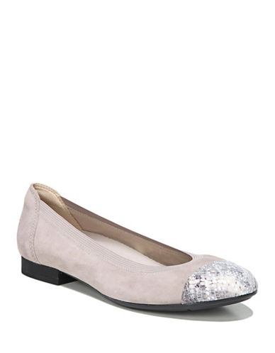 Naturalizer Therese Ballerina Flats-DOVE SUEDE-5.5