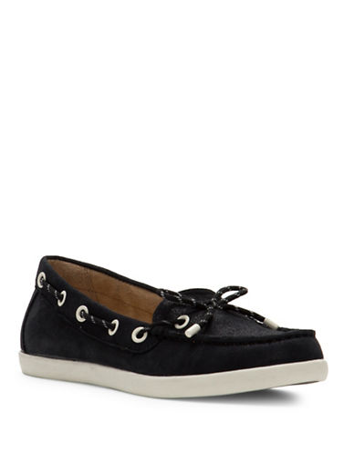 Naturalizer Ginnie Boat Shoes-BLACK-6