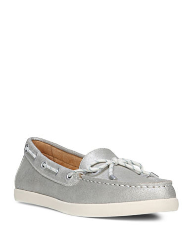 Naturalizer Ginnie Metallic Boat Shoes-SILVER-6.5