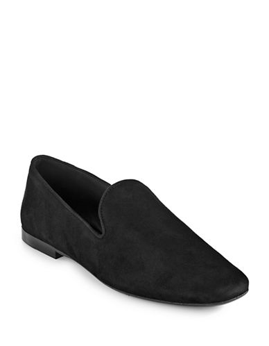 Vince Bray Suede Loafers-BLACK-8.5