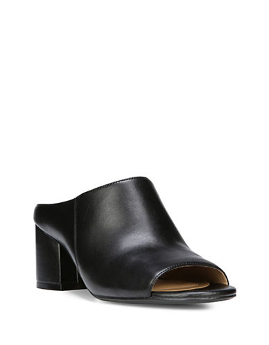 Naturalizer Cyprine Leather Mules-BLACK-8.5