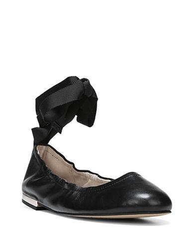 Sam Edelman Fallon Tie Ballet Flats-BLACK-5