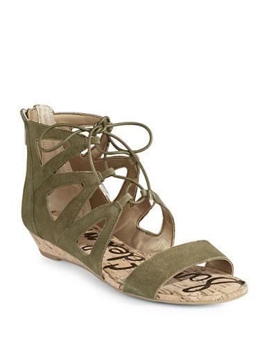 Sam Edelman Dean Suede Gladiator Sandals-GREEN-8.5