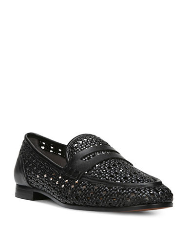 Sam Edelman Leora Woven Leather Loafers-BLACK-10