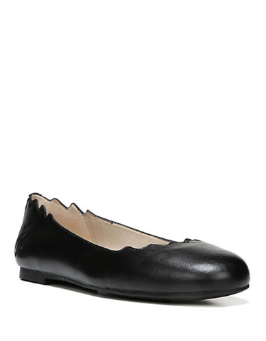 Sam Edelman Finnegan Leather Ballet Flats-BLACK-6.5