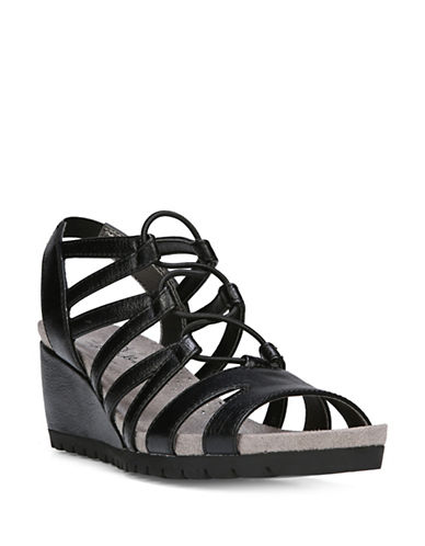 Lifestride Nadira Lace Wedge Heel Sandals-BLACK-6.5