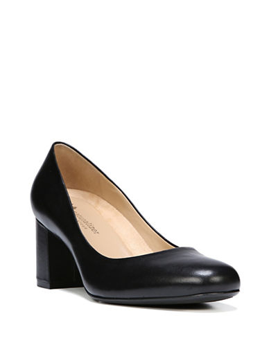 Naturalizer Suede Block Heels-BLACK-7W