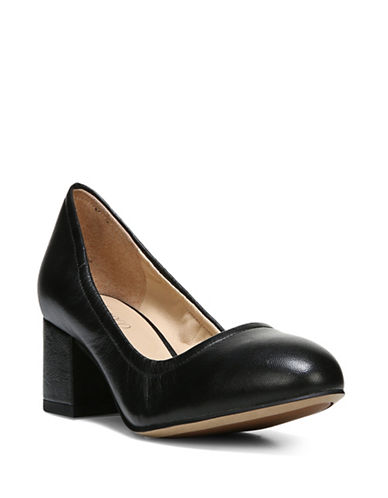 Franco Sarto Fausta Leather Pumps-BLACK-9