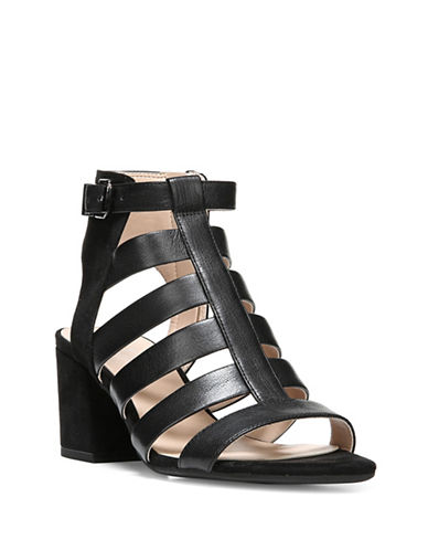 Franco Sarto Mesa Caged Sandals-BLACK-8.5