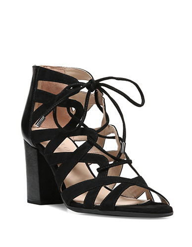 Franco Sarto Meena Block Sandals-BLACK-9.5