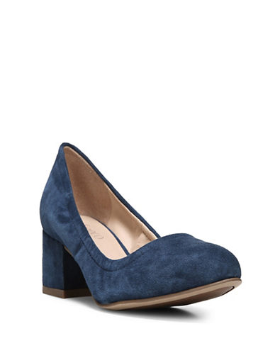 Franco Sarto Fausta Suede Pumps-BLUE-9