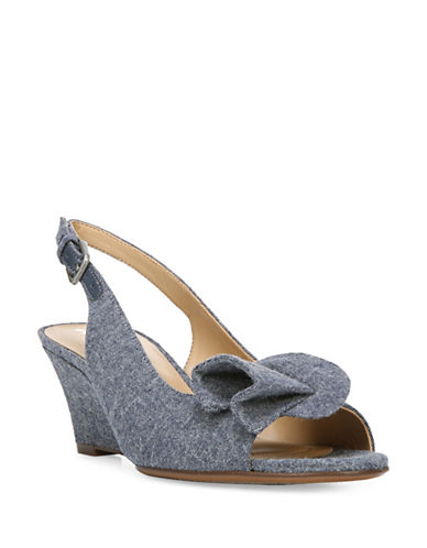 Naturalizer Tinna N5 Contour Wedge Denim Pumps-BLUE DENIM-8