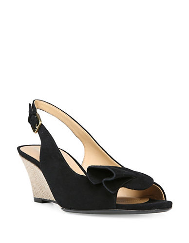 Naturalizer Tinna N5 Contour Wedge Leather Pumps-BLACK-7