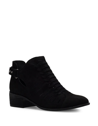 Sam Edelman Pierson Ankle Suede Booties-BLACK-6.5