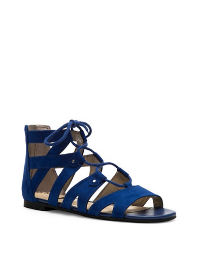 Circus By Sam Edelman Hagan Gladiator Micro-Suede Sandals-BLUE-6.5