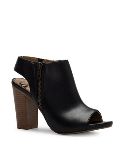 Fergalicious Camille Slingback Booties-BLACK-9.5