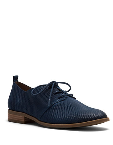 Franco Sarto Zane Leather Oxfords-BLUE-7.5