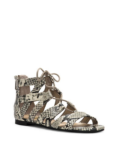Circus By Sam Edelman Hagan Gladiator Micro-Suede Sandals-CASHMERE-7