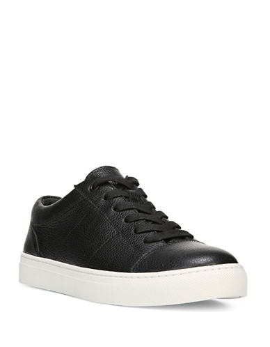 Vince Afton-3 Leather Low-Top Sneakers-BLACK-8.5
