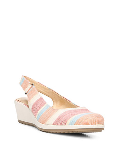 Naturalizer Bridget Comfort Wedges-MULTI STRIPE-8.5