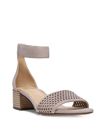 Naturalizer Faith Leather Hexagonal Sandals-GREY-7