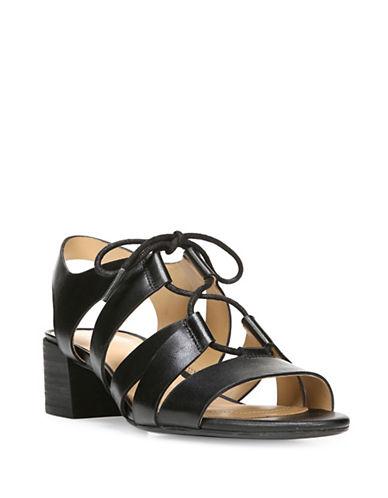 Naturalizer Felicity Leather Contour Sandals-BLACK-7W