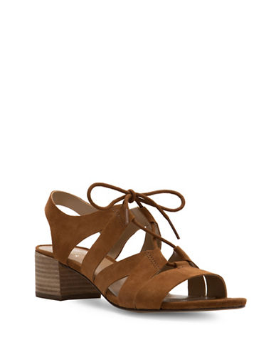 Naturalizer Felicity Suede Contour Sandals-WHISKEY-8.5