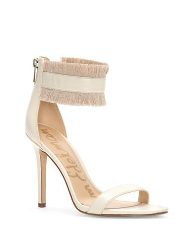 Sam Edelman Anabeth Fringed Leather Sandals-IVORY-8.5