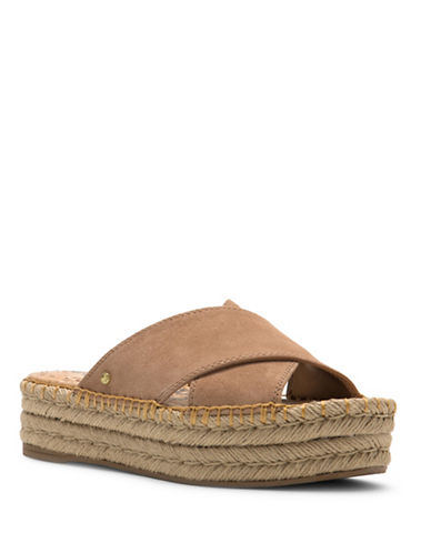 Sam Edelman Natty Esapdrille Slip-On Flatform Sandals-TAN-8.5