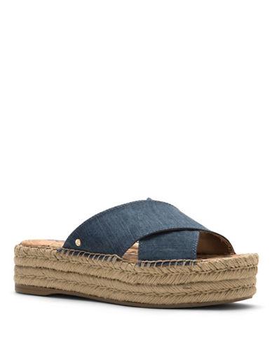 Sam Edelman Natty Esapdrille Slip-On Flatform Sandals-NAVY-6.5