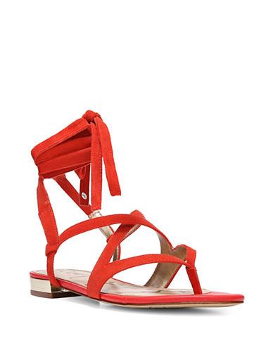 Sam Edelman Davina Wrap Thong Sandals-RED-7