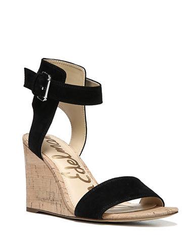 Sam Edelman Willow Wedge Sandals-BLACK-8.5