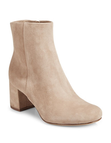 Naturalizer Westing Suede Ankle Boots-OATMEAL-9