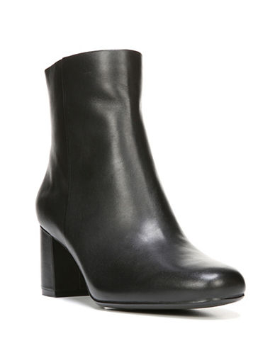 Naturalizer Westing Leather Ankle Boots-BLACK-8W