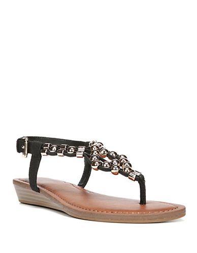 Fergalicious Tito Thong Sandals-BLACK-6.5