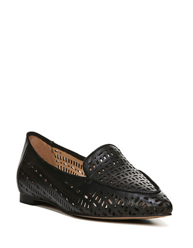 Franco Sarto Soho Leather Flats-BLACK-7