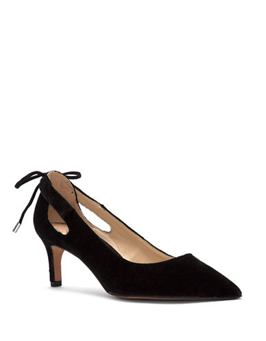 Franco Sarto Doe Velvet Pointed Toe Pumps-BLACK VELVET-8.5