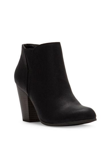 Fergalicious Stacked Block Heel Booties-BLACK-8