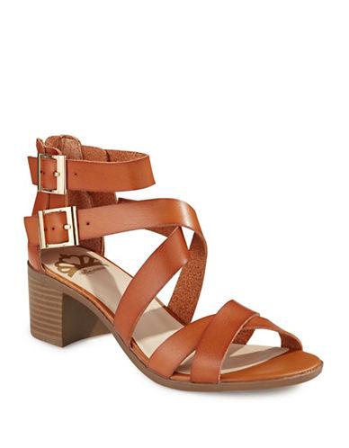 Fergalicious Block Heel Sandals-TAN-9
