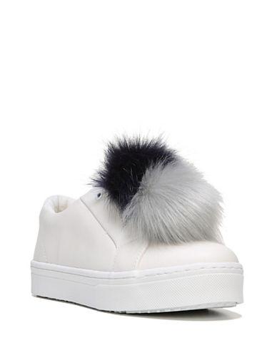 Sam Edelman Leya Pom-Pom Suede Sneakers-WHITE/NAVY-8.5