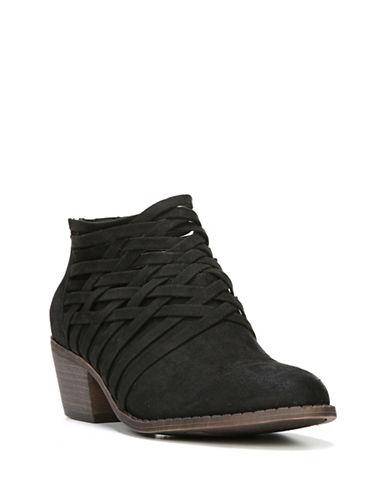 Fergalicious Bandana Block Heel Ankle Boots-BLACK-7.5