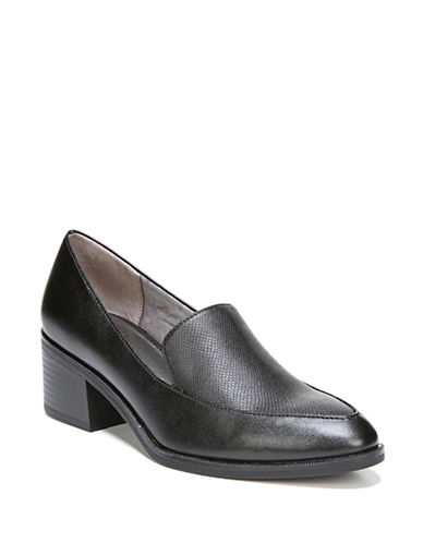 Lifestride Educate Block Heel Booties-BLACK-7.5