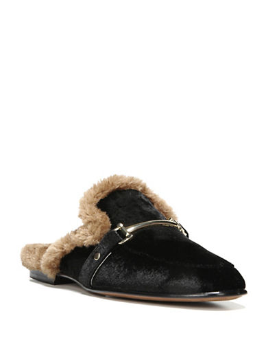 Sam Edelman Danica Faux-Fur Loafer-BLACK-9