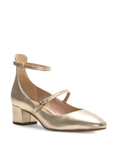 Sam Edelman Lulie Leather Pumps-GOLD-8.5
