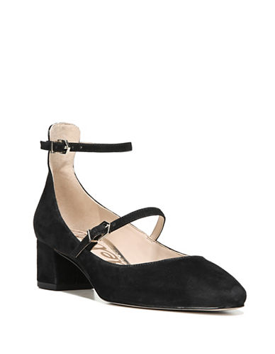 Sam Edelman Lulie Suede Pumps-BLACK-7.5
