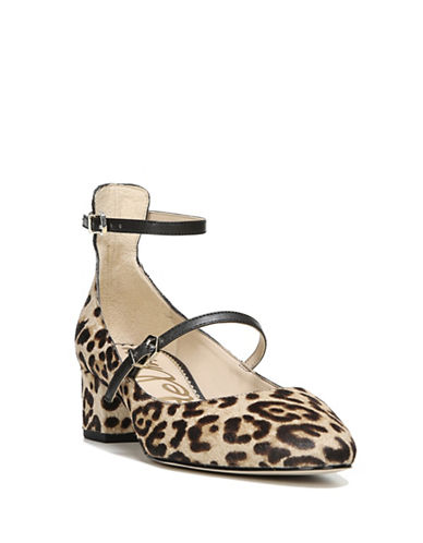 Sam Edelman Lulie Leopard-Print Brahma Hair Mary Jane Pumps-LEOPARD-7.5