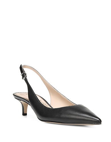 Sam Edelman Ludlow Leather Slingback Pumps-BLACK-7.5