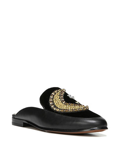 Sam Edelman Pemberly Embellished Mules-BLACK-7.5