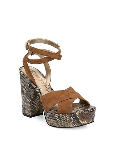 Sam Edelman Mara Suede Vintage Platform Sandals-BROWN-5.5